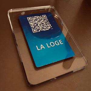 Support en plexiglas pour votre QRcode vendu par QRmiam